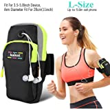 """Kainnt Sports Armband, Multifunctional Pockets Workout Running ArmBag for iphone 7 iphone 7 plus iphone6, 6plus,6s,6s plus 5, 5s, 5c,Galaxy S5,S4,S3,Note2/3/4 and all 3.5~5.8"""" smartphone"""