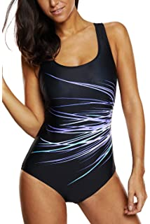 4f086a25cb Vegatos Women s Pro One Piece Swimsuit Racerback Athletic Bathing Suit  Swimwear
