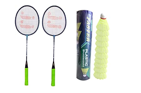 JJ Jonex Faster Sunny 2 Rackets and 10 Shuttles Box with Full Cover Complete Sets