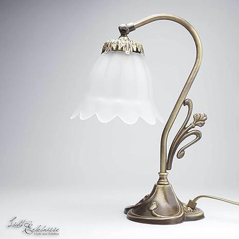 Premium lámpara de mesa de latón bronce floral E14 hasta 40 ...