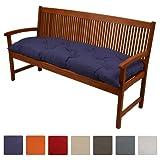 Beautissu Bench Pad Flair BK Comfortable Cushion 120 x 50 x 10 cm Swing or 2 Seater Garden Bench Cushion Graphite Grey