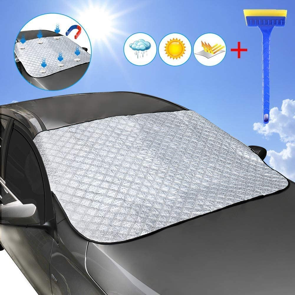 Drisharp Foldable Car Windshield Sun Shade - Blocks UV Rays Sun Visor Protector, Car Window Shade to Keep Your Vehicle Cool and Damage Free, Easy to Use, Fits Windshields of Various Sizes Car