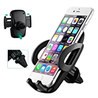 Car Phone Mount, Mpow Car Phone Holder Universal Adjustable Angle Cars Cradle, Fixing to the Grid Air Vent Car Mount for iPhone 7 7Plus 6s 5s Samsung S8 S7 Huawei Xiaomi HTC Sony and other Devices