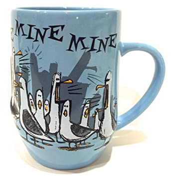 disney parks finding nemo seagull mine ceramic mug cup blue new by