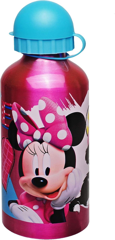 alles-meine.de GmbH Trinkflasche // Sportflasche Name BPA frei Minnie Mouse 500 ml inkl aus Aluminium Trinklernflasche Aluflasch.. f/ür Kinder auslaufsicher Disney