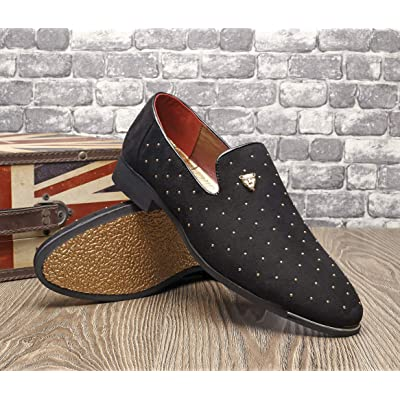 Men Slip On Pointed Toe Dress Wedding Party Metal Rivets Leather Formal Shoes SZ