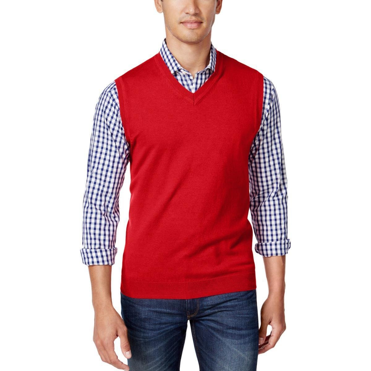 Club Room Mens V-Neck Sweater Vest
