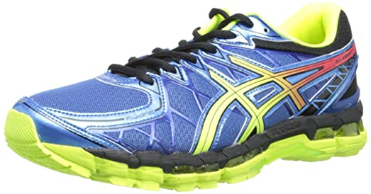 ASICS Men's Gel-Kayano 20 Running Shoe,Cobalt/Flash Yellow/Black,