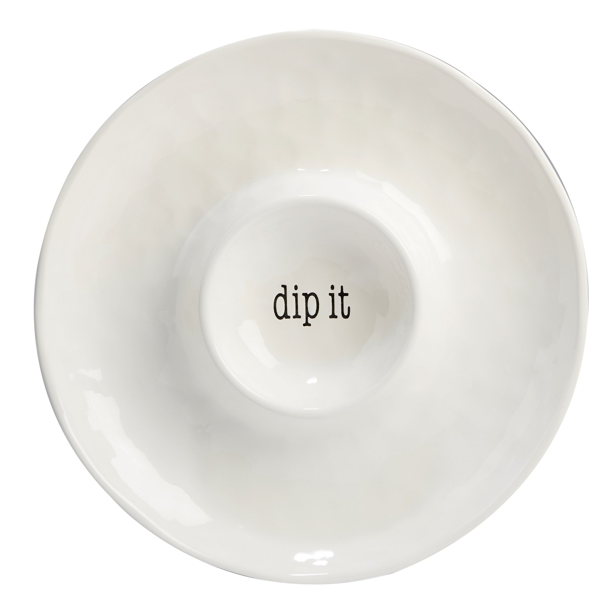 Certified International Corp 23703 It's It's Just Words Chip and Dip 13.75'', Multicolor