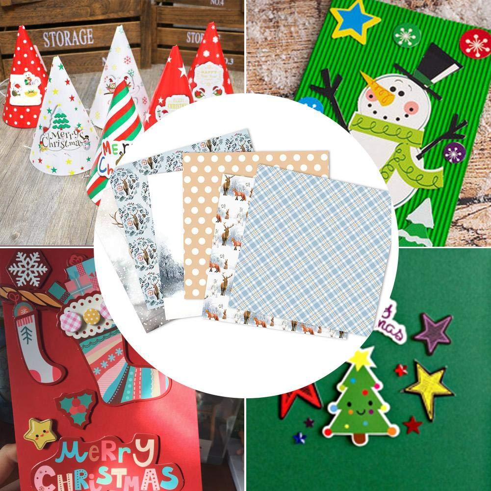 Christmas Pattern Paper Photo Album Tarjetas De Papel Decorativas Dise/ño Vintage para DIY Craft Photo Background Deco Paper Scrapbooking