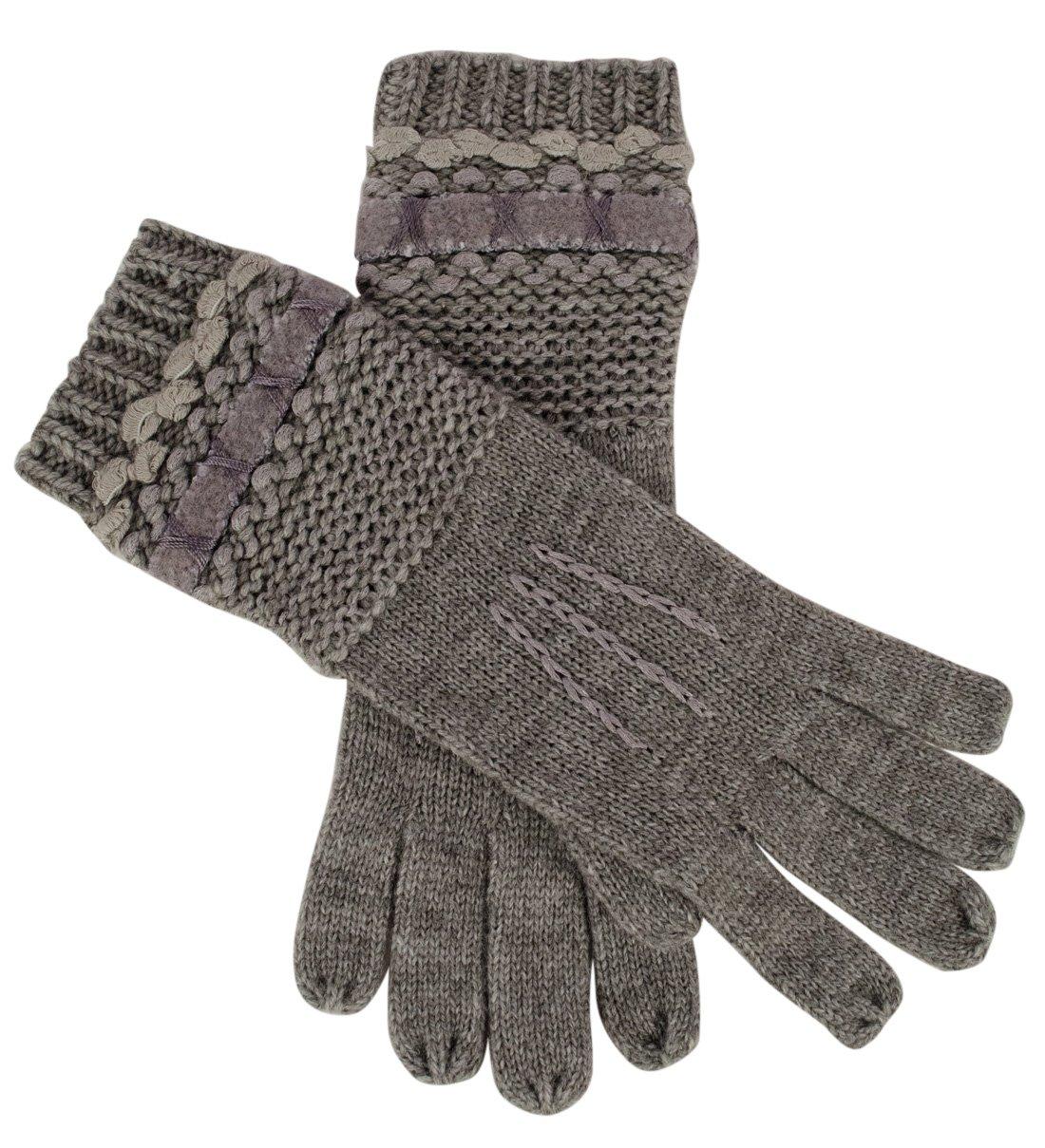 Lauren Ralph Lauren Women's Multi Texture Wool Blend Gloves-G-One Size