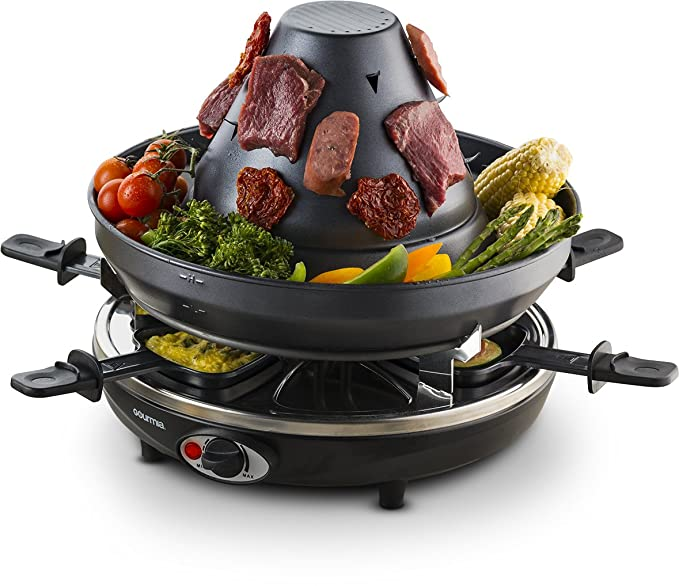 Gourmia Table-Top Raclette Grill – The Raclette Grill With a Unique Sombrero Design