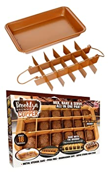 GOTHAM STEEL Brooklyn Copper Brownie Pan