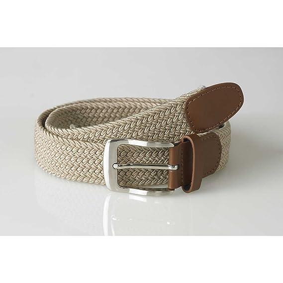 D555 Kingsize Mens Brown Leather Belt Large Buckle Bonded Leather HARRISON