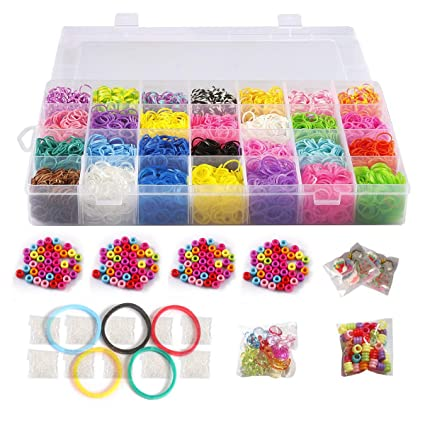 Amazon 10 000 Rubber Bands Refill Pack Colorful Loom Kit