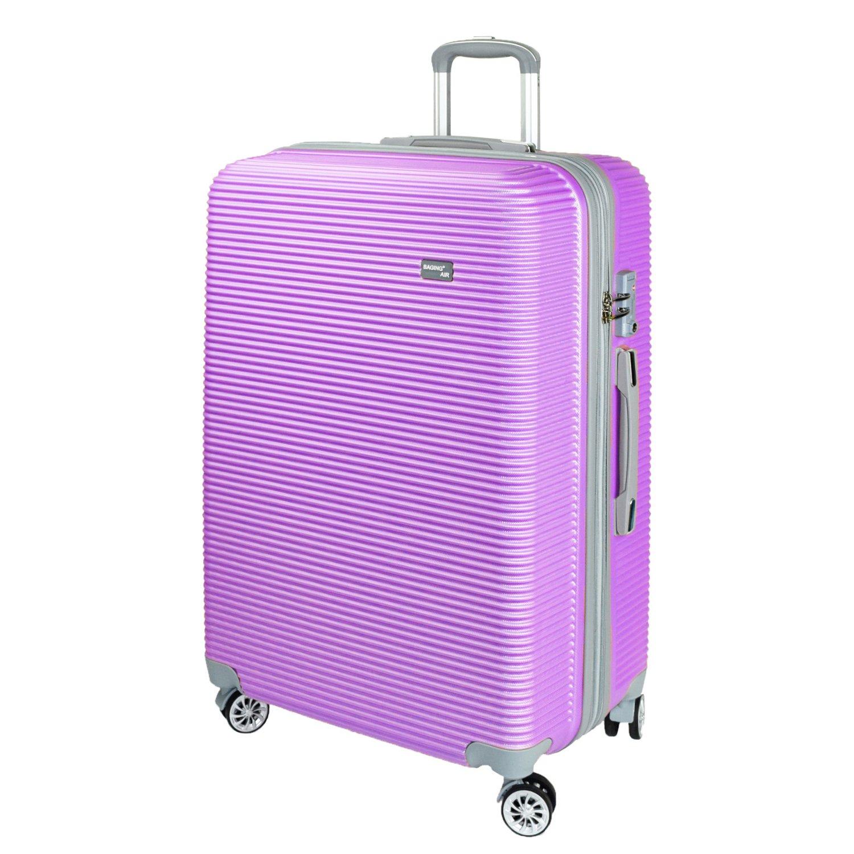 【神戸リベラル】 BAGING 軽量 拡張ファスナー付き S,M,Lサイズ スーツケース キャリーバッグ 8輪キャスター TSAロック付き B07BM1KBS5 Lサイズ(長期用 85/95L)|パープル パープル Lサイズ(長期用 85/95L)