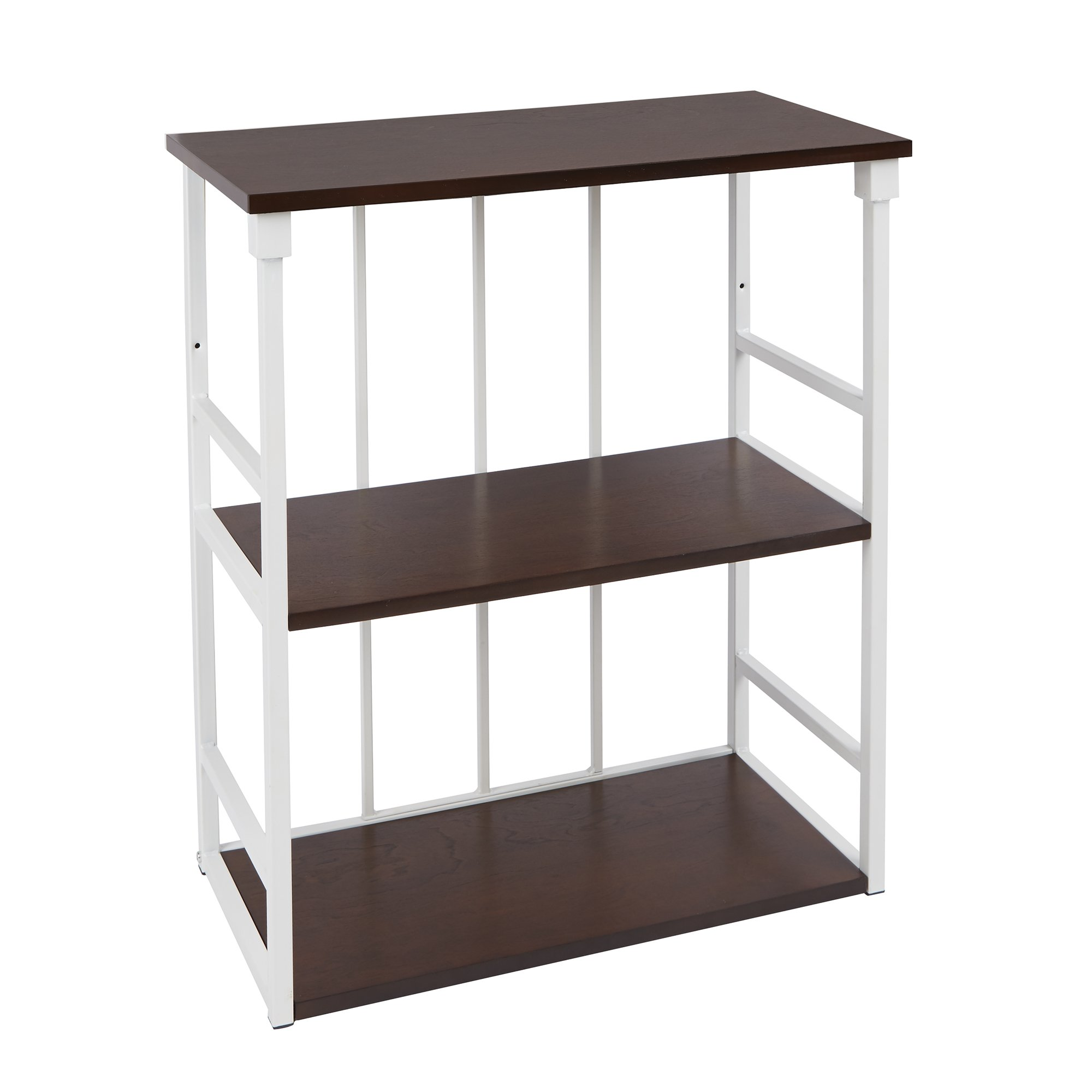 Silverwood Mixed Material Bathroom Collection 3-Tier Wall Shelf 3, 24'' W x 28'' H, White