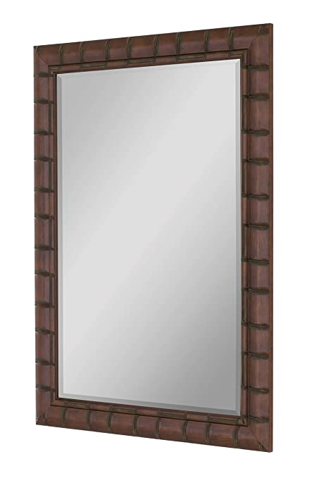30 x 42 mirror cherry hitchcockbutterfield fruitwood bamboo framed wall mirror 30quot 42quot amazoncom