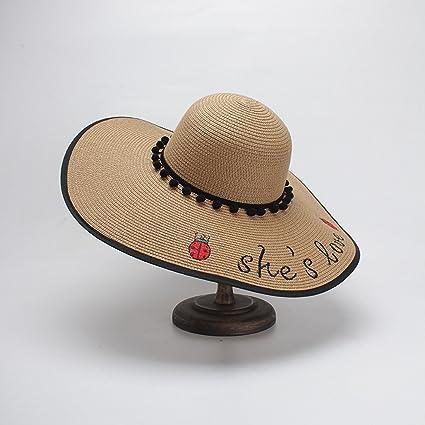 65a634c25fdfa Sombreros de mujer de primavera y verano Sombreros de paja de ala ancha  Sombreros de mujer