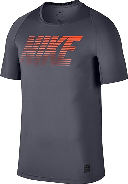 Nike Pro Boys Fitted Graphic T-Shirt Black//Black//Cool Grey, X-Large
