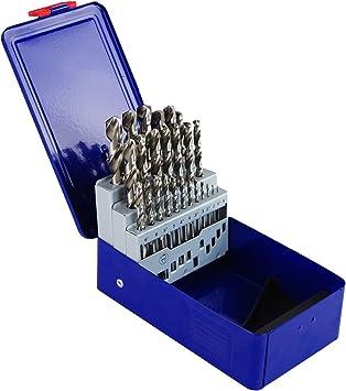 Juego de brocas brocas 25Tlg 1 – 13 mm Metal Box metal (HSS-G – Juego de brocas en espiral: Amazon.es: Bricolaje y herramientas