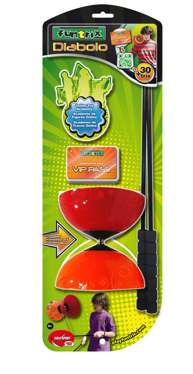 Toysmith Funtrix Diabolo Game (Colors May Vary)