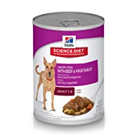Hill's Science Diet Adult Wet Dog Food Savory Stew with Beef & Vegetables