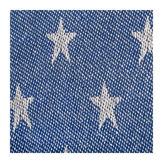 """DII Woven Throw Blanket with Decorative Fringe, Star, Nautical Blue - CONSTRUCTION - Throw measures 50 x 60"""", made of 100% woven cotton with 2.5"""" decorative fringe finish that won't unravel in wash QUALITY IN THE DETAILS - A throw to celebrate our independence, these blankets are durable and versatile. An easy way to add color and texture to freshen your home for spring or warm it up in the winter. CELEBRATE INDEPENDENCE - Bring this blanket to BBQ's on the 4th of July to keep you warm during the firework show or stretch out on it under the stars - blankets-throws, bedroom-sheets-comforters, bedroom - 71QFOpazcvL. SS570  -"""