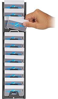 Amazon icon time systems totalpass small business premium lathem badge id card rack 12 pockets horizontal steel charcoal gray colourmoves