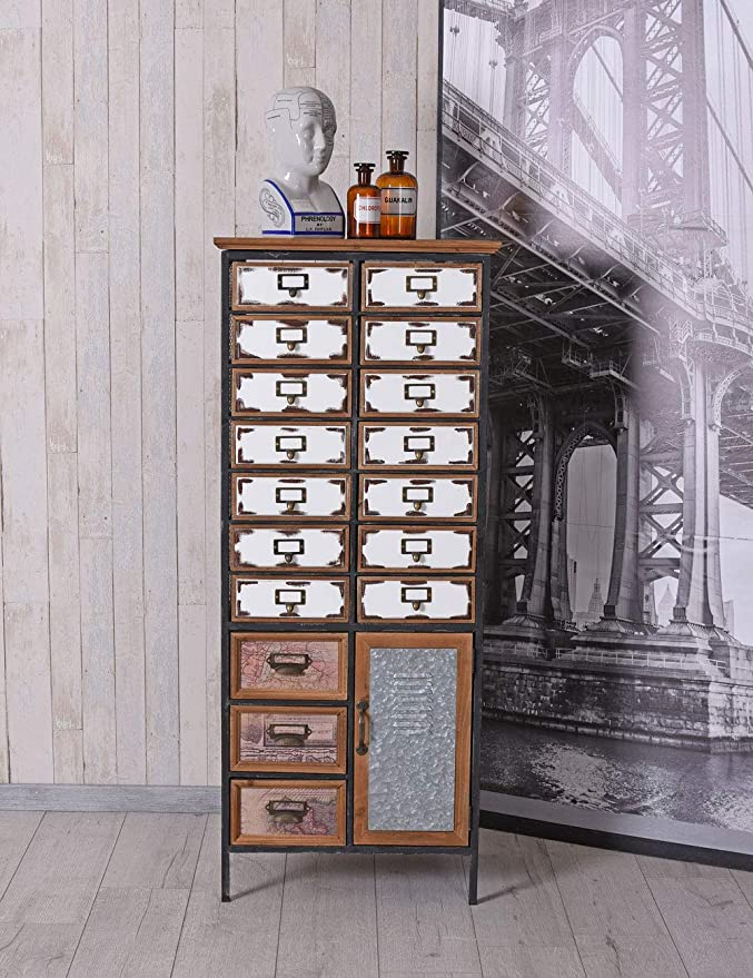 Palazzo Lof029 - Armario de Farmacia con cajones, diseño ...