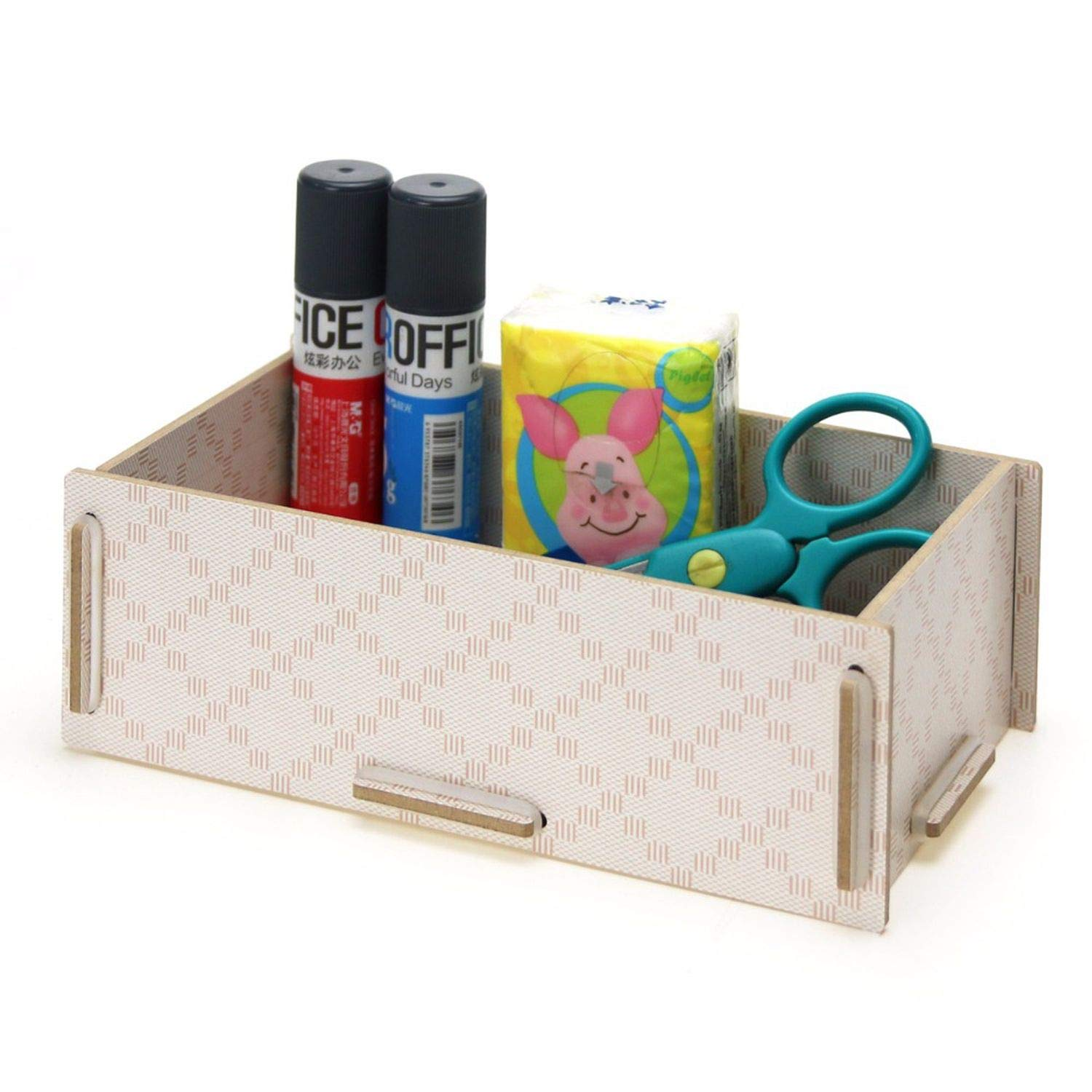 Wood Desktop Office Stationery Collection Room Sundry Receive Box for Remote control/scissors/pen,05 by Collocation-Online (Image #4)