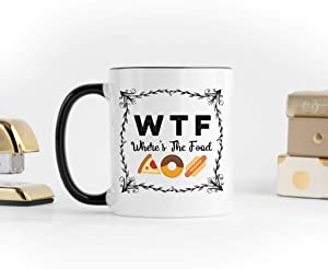 Wheres The Food Mug | Wtf | Housewarming Gift | Foodie Gift | Valentines Day Mug | Wife Gift | Husband Mug | Food Lover Gift Unique Gift Novelty Ceramic Coffee Mug Tea Cup - 15oz White