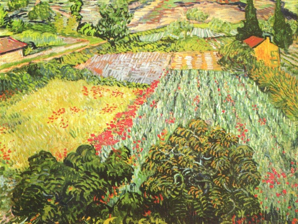 Lais Puzzle Vincent Willem van Gogh - Das Mohnblumenfeld 2000 Teile