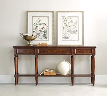 hooker furniture grandover three drawer console table