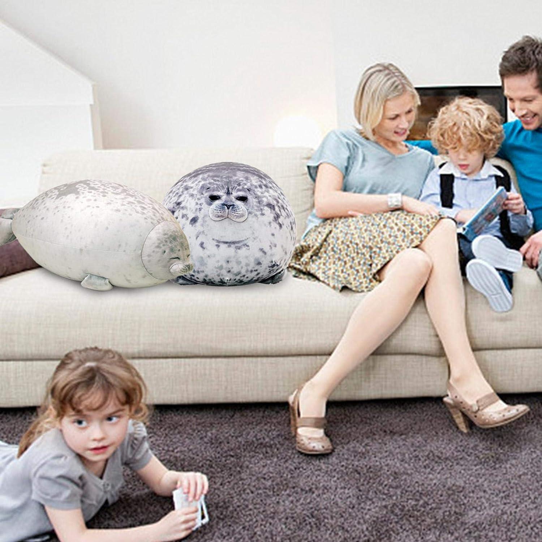 Pl/üschtier aus gef/üllter Baumwolle Seal Pillow Cute und Soft Gift f/ür Kinder und Erwachsene TIAS Chubby Blob Seal Pillow
