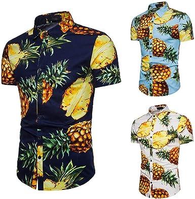WINWINTOM Verano Casual Camisas De Hombre, Moda Ajustado ...