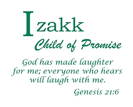 Amazoncom Baby Names Wall Decals For Izakk Displays The Meaning