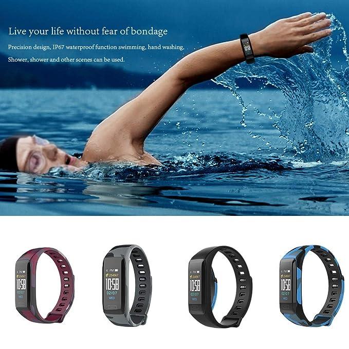 Impermeable Reloj Inteligente Deportivo Pantalla A Color Podómetro Fitness Tracker Pulsómetro Análisis De Sueño Cámara Bluetooth Smartwatch Compatible ...