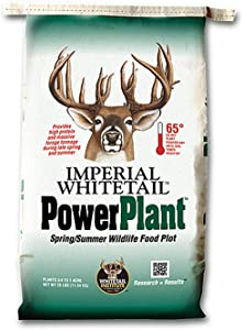 Whitetail Institute PowerPlant Deer Food Plot Seed for Spring Planting - Blend of Annuals to Attract Deer and Provide Antler-Building Protein and Nutrients in Late Spring and Summer, 25 lbs (1 Acre)