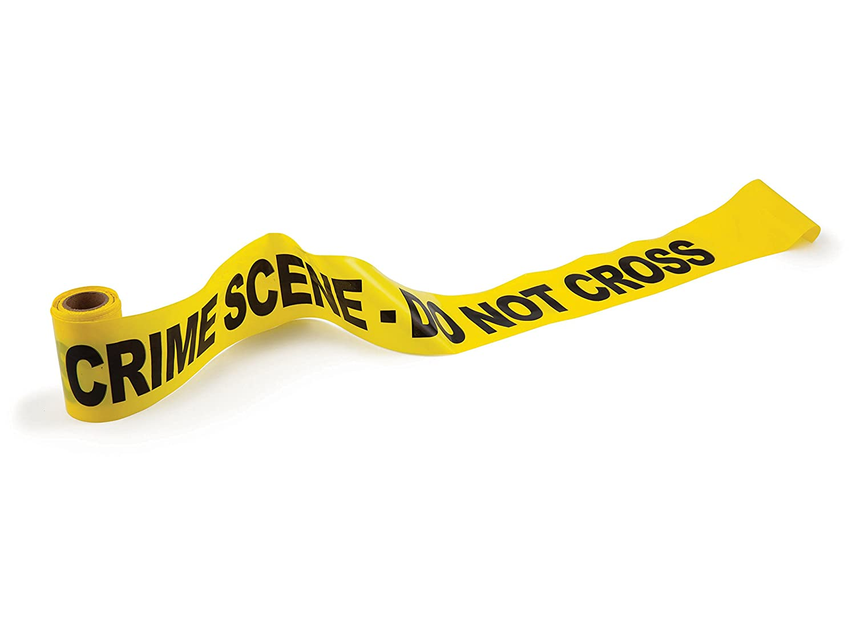 bigmouth 50 ft do not cross crime scene tape yellow amazon co uk