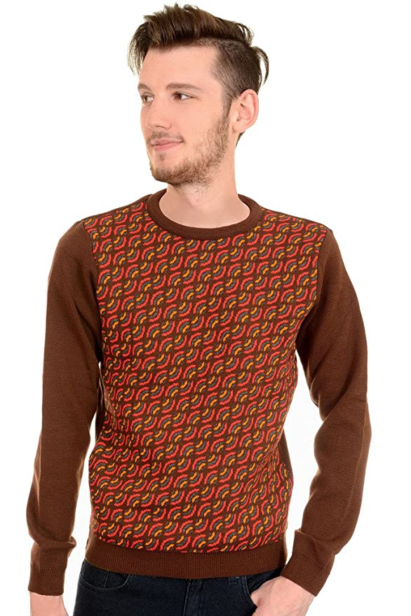 Men's Vintage Style Sweaters – 1920s to 1960s  60s 70s Vintage Retro Rainbow Indie Mod Jumper $39.95 AT vintagedancer.com
