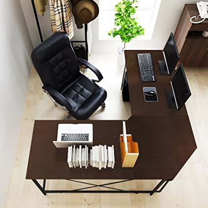 Superb Soges 59u0026quot; X 59u0026quot; Large L Shaped Desk Computer Desk L Desk Office