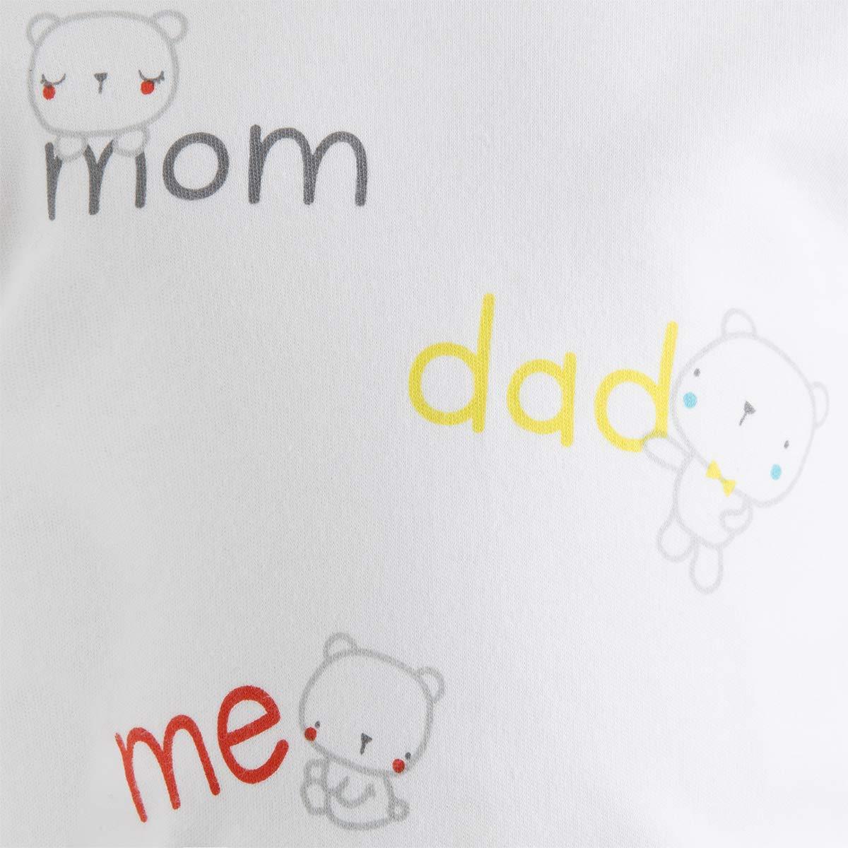 Conjunto Peto Felpa Y Camiseta Punto NI/ÑO Blanco I Love MY Family