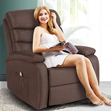 Amazon.com: Artist Hand 8 Point Massage Recliner Lounge Chair, Zero Gravity Microfiber Ergonomic Living Room Sofa With Heated Control Home Theater Seating Fit For Office Nap (Brown): Kitchen & Dining