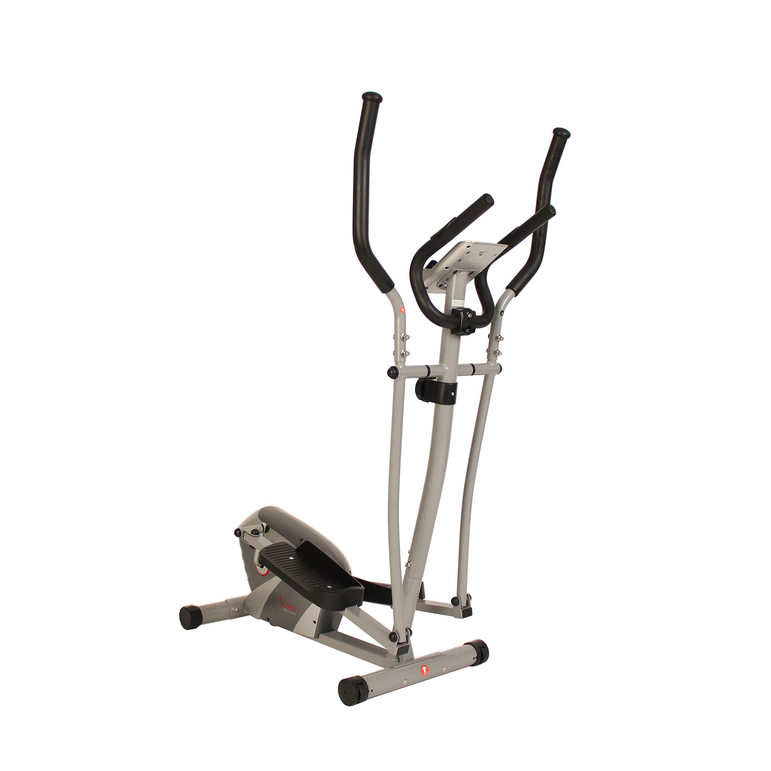 Sunny Health & Fitness Magnetic Elliptical Trainer by - SF-E3628 Magnetic Elliptical Trainer, Gray
