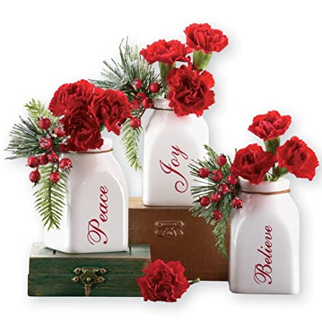 Amazon Inspirational French Country Christmas Flower Bud Vases