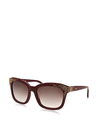 2bb0c4d4766 Chloe Women s Square Sunglasses - Bordeaux at Amazon Women s Clothing store