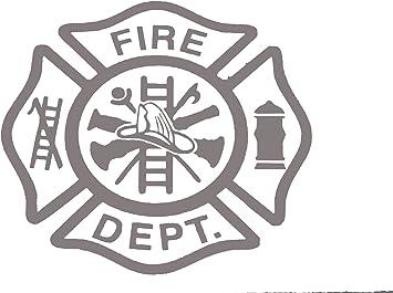 Maltese Cross Fire Department Fireman Firefighter Vinyl Decal