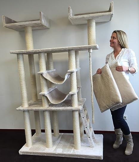 Cat Árbol Rascador de Gato Templo Elite gato arañar poste Centro de actividades para grandes pesados