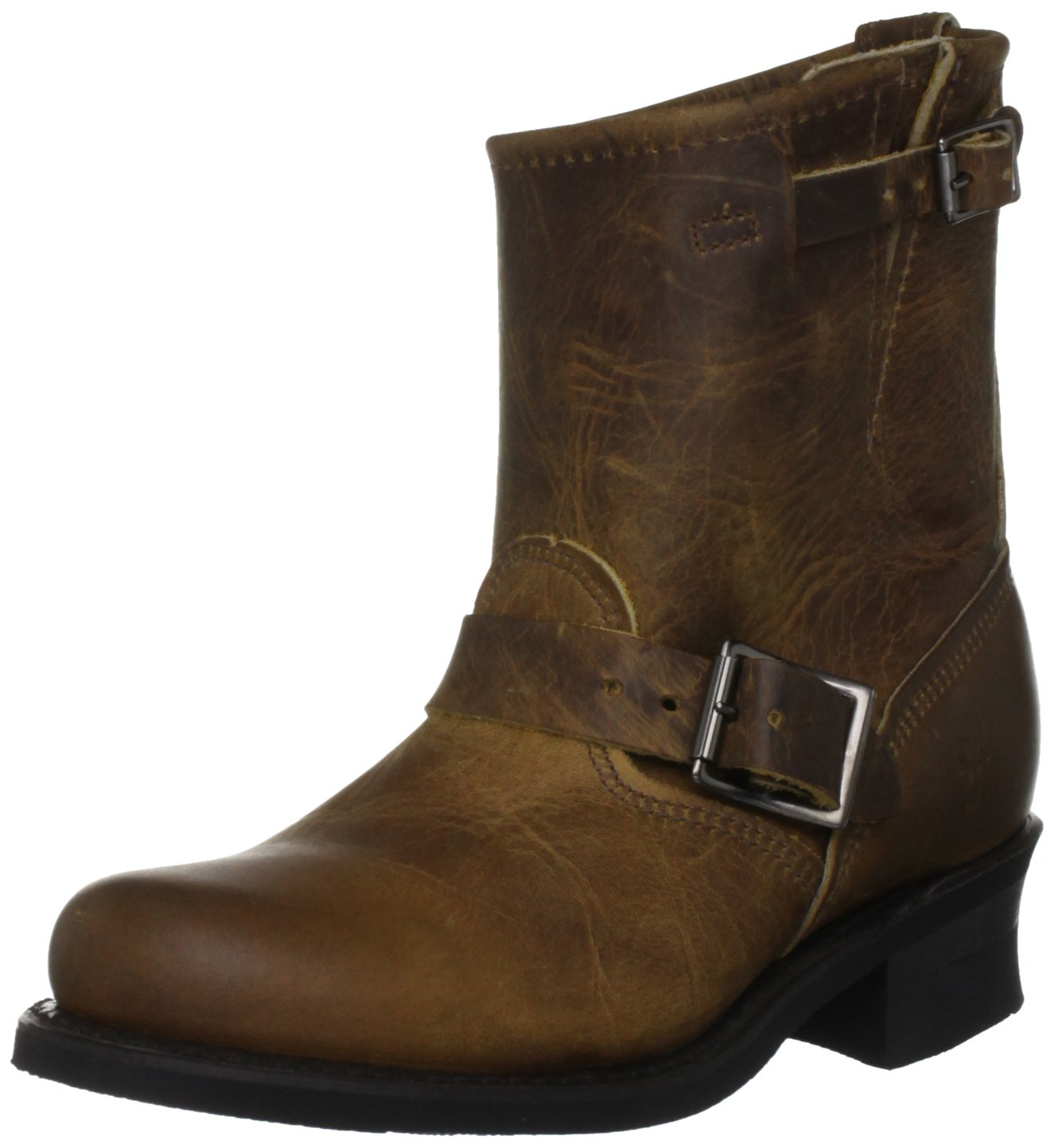 FRYE Women's Engineer 8R Ankle Boot B0059RP94Q 5.5 B(M) US|Dark Brown Old Town-77500